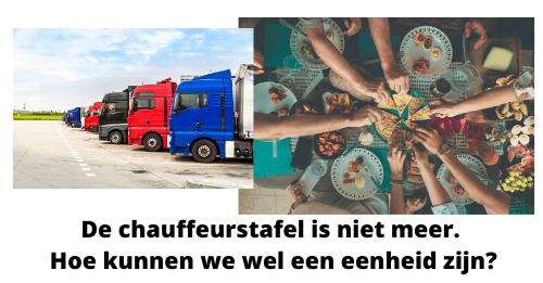 Transporteffect- De chauffeurstafel is niet meer. Hoe kunnen we wel een eenheid zijn?