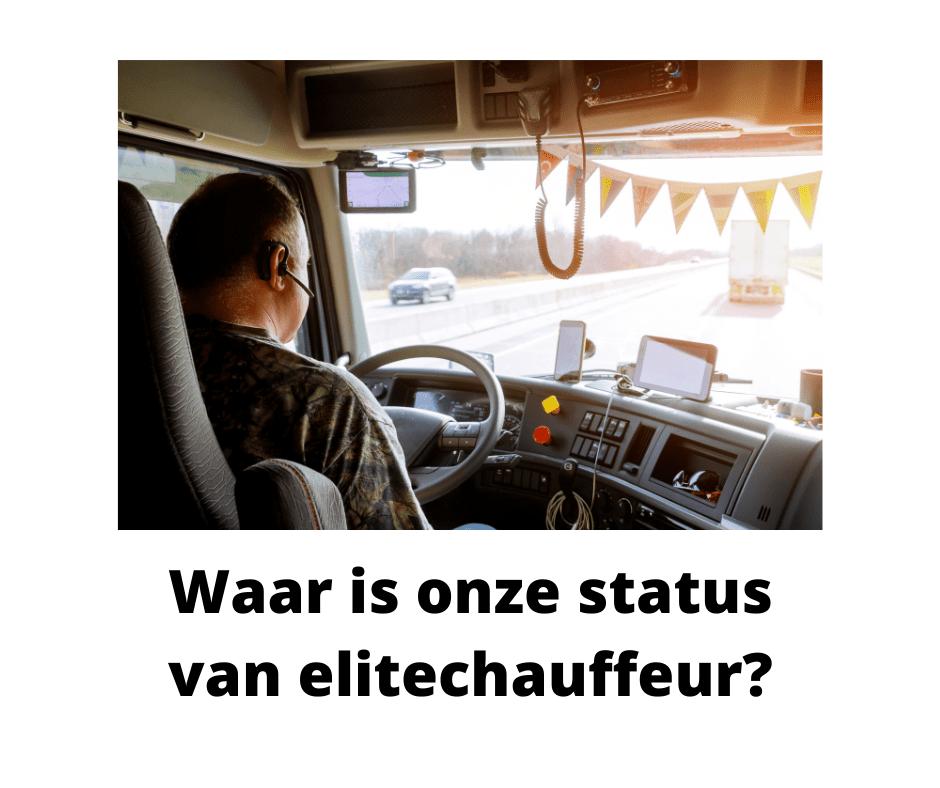 Waar is onze status van elitechauffeur?
